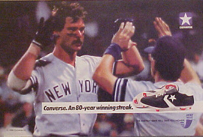 786ca01bbaba8d 1988 Don Mattingly New York Yankees Baseball Memorabilia Converse Shoes  Promo AD
