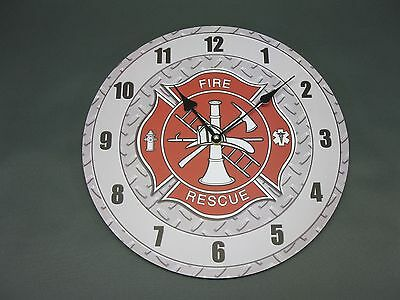 Large Wall Clock 34 cm Nostalgic Clock Antique Style Fire Brigade