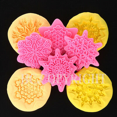 Fondant Cake Cookie Biscuit Stamp Embosser Mold Cutter Sugarcraft Embossing Mold