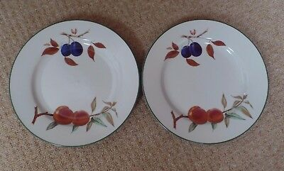 "ROYAL WORCESTER EVESHAM VALE - 2 X 10.5"" DINNER PLATES - EXCELLENT - 8 available"