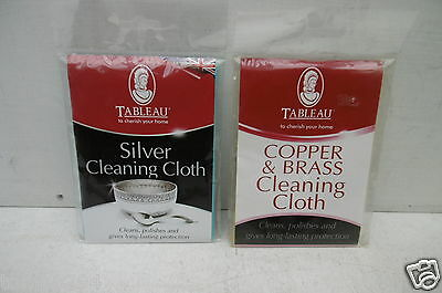 Pair Of Tableau Silver/Copper & Brass Polishing Cleaning Cloths