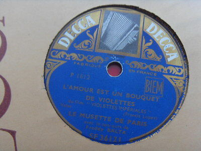"78rpm Freddy Balta ""Miracle de Paris"" - Violettes Imperiales (DECCA) SF36121"
