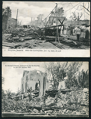 JAMAICA: (17305) EARTHQUAKE Post Cards