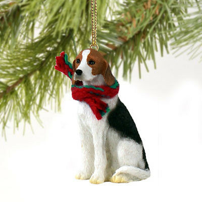 American Fox Hound Dog Tiny One Miniature Christmas Holiday ORNAMENT