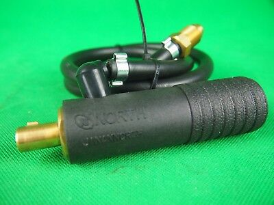"TIG Torch Adaptor 35/50 7/8"" UNF Dinse TIG Torch Connector Water Cooled Adaptor"
