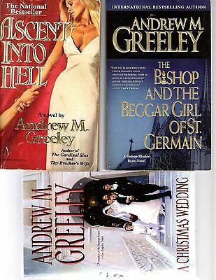 (B407)   Andrew M Greeley BOOKS LOT OF 10 BOOKS  free shipping