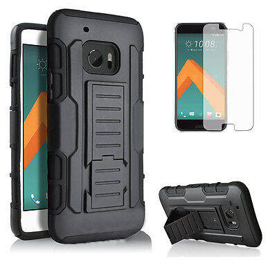 Rugged Hybrid Tough Shockproof Armor Cover Hard Stand Protective Case For HTC 10