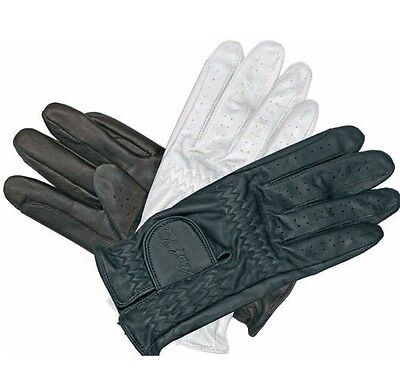 MARK TODD CHILDS LEATHER RIDING SHOWING GLOVES black brown white size 4-12 years