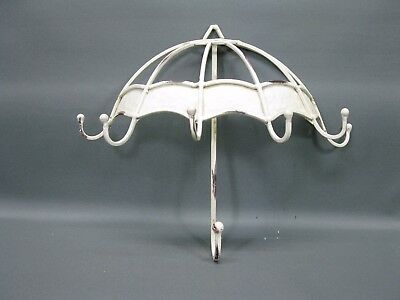Trendy Coat Hook Rail Made of Metal with 5 Hooks Shabby Varnished 32 cm