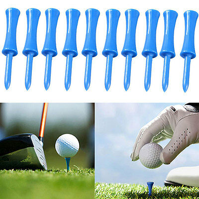 100x Plastic Step Down Golf Tees Graduated Castle Tee Height Control Blue 68mm~