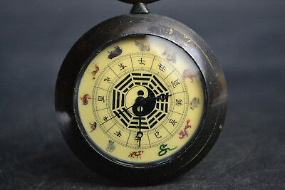 good Collectible Copper Made Hand-mechanical Used Chinese zodiac usable Clock