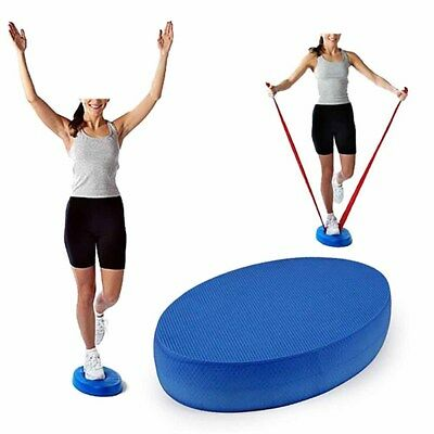 Yoga Foam Board Balance Pad Gym Fitness Exercise Cushion Blue Oval Cushion New
