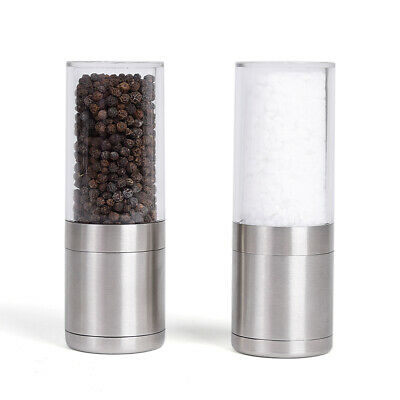 Premium Stainless Steel Salt and Pepper Grinder Pepper Mill and Salt Mill