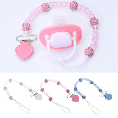 1Pc New baby pacifier clip chain holder nipple leash strap pacifier soother TPI