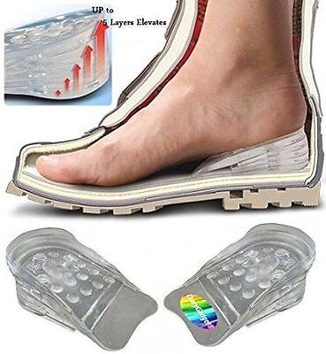 Height Lift Increase Shoe Inserts Heel Lift Cushion Taller Silicone Pad (1 Pair)