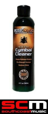 Music Nomad Cymbal Cleaner Polish And Protector Acid Free Instant Cleaning  New