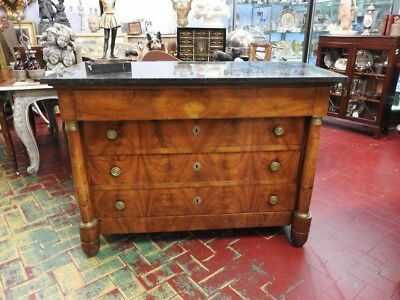 Ancient Dresser Dresser' From'800 Empire Walnut Period Neo-Classical