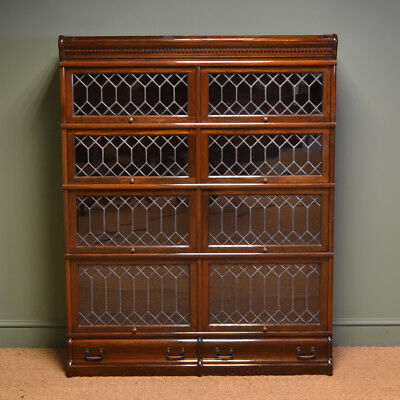 Spectacular Edwardian Antique Globe Wernicke Double Antique Barristers Bookcase