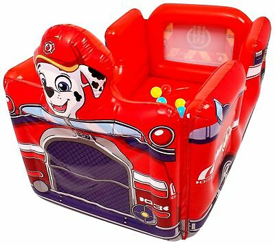 Inflatable Paw Patrol Marshall Fire Engine Ball Pit Pool With 20 Soft Balls 7069