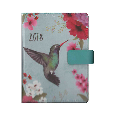 A6 Blue Hummingbird Design Day to a Page Organiser Diary 2018 (2094)