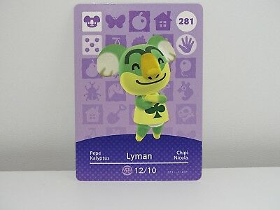 Amiibo Animal Crossing Card Lyman no. 281 Top