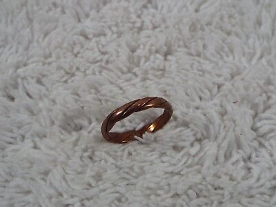 Twisted Copper Band Ring ~ Size 6 (C61)