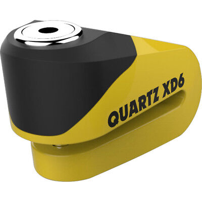 Oxford Quartz XD6 Disc Lock (6mm pin) Yellow/Black Motorbike Cruiser Security