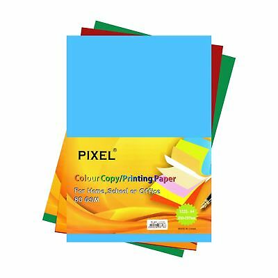 Pixel® A4 Paper/Card Bright Colours High Quality 80GSM 160GSM 250GSM