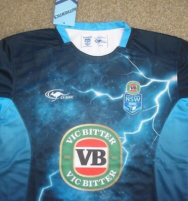 BNWT Large New South Wales NRL Rugby League Training Shirt (2017)