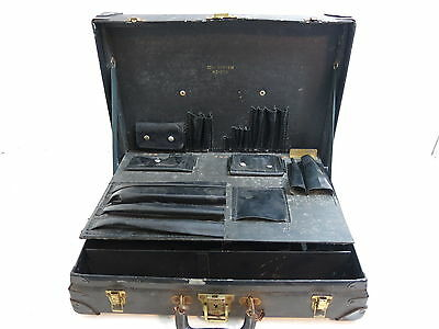Vintage Black Bell Systems Telephone Lineman Tool Case With Metal Sides N2 Of 2