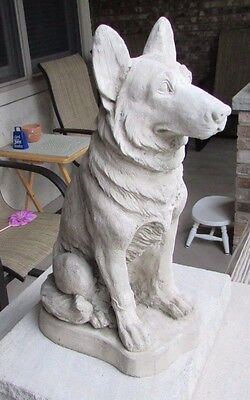 """Concrete German Shepherd Statue Or Use As A Memorial ,grave Marker 15"""" High"""