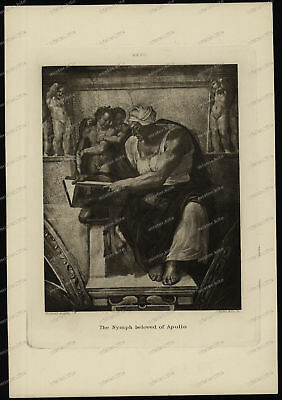 Druck-Stahlstich-Engraving-Michael Angelo-Allen-The Nymph beloved of Apollo-85
