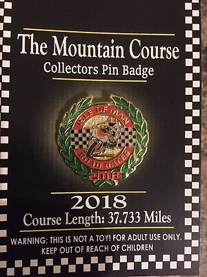Iom/badge/Manx/TTRaces/Isle Of Man/motorbikes/2018/new Pin Collectible