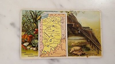 Victorian Trading Card Arbuckle Bros State Facts Indiana Farm Products
