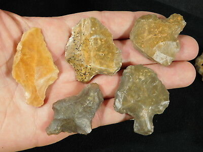 Lot of Rare Authentic Aterian Lithic Artifacts 55,000 to 12,000 Years Old 110gr