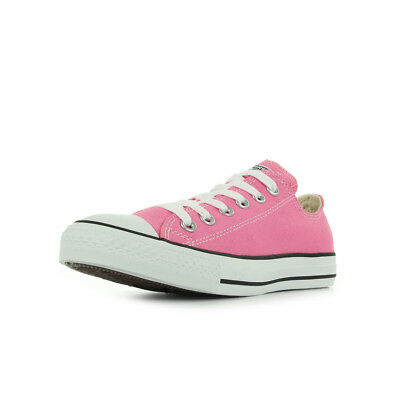 709af3f6b963f Chaussures Baskets Converse femme All star ox taille Rose Textile Lacets