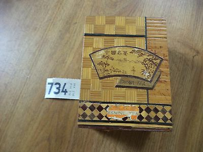 Vintage Chinese Tea Caddy Wooden Box