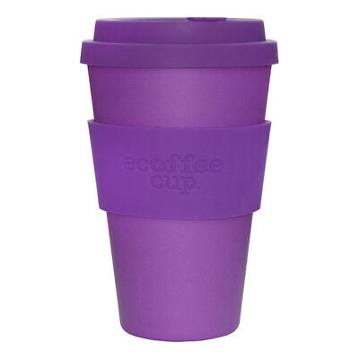 Ecoffee Cup Purple Reign with Purple Silicone 14oz Eco Friendly Reusable Travel