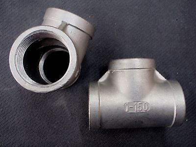 """St-100  Stainless Steel Tee 1"""" Npt Pipe Fitting"""