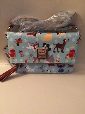 NWT Dooney & Bourke Disney Dogs crossbody Foldover shoulder bag purse SOLD OUT