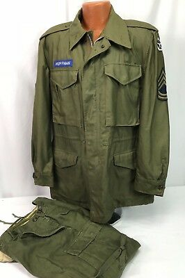 Patched US Army M-1951 Field Jacket and Pants