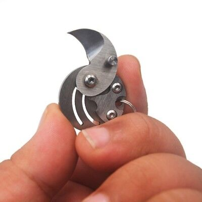 Portable Mini Folding Knife Outdoor EDC Coin Pocket Keychain Survival Hand Tools