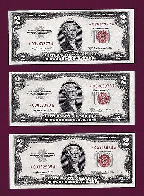 Fr.1511  $2 1953 B  STAR  LEGAL TENDER UNITED STATES NOTE -BUY ONE OF 7 NOTES