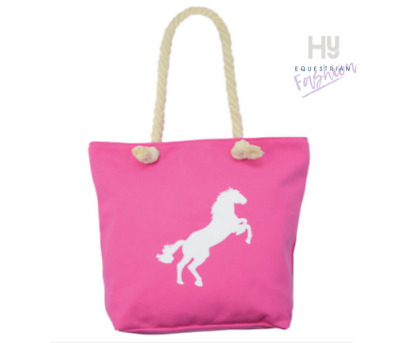 HyFASHION Amelia Tote bag - Navy Hot pink Cream strong canvas shopping bag