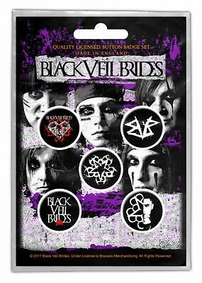 Black Veil Brides - 5 x 2.5cm Button Set - Pentagram