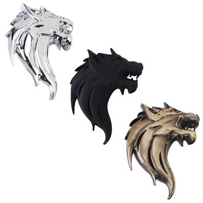 New design Metal Wolf Head Motor Grille Badge Car Sticker 3D Auto Decal 2017