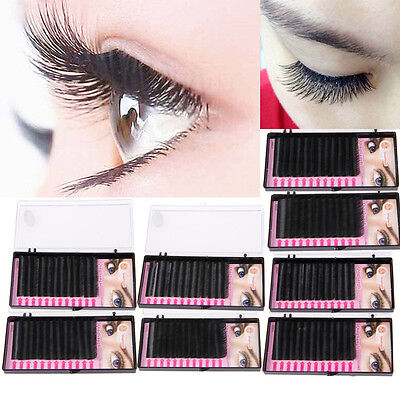 Blink Tray Lash B C D J Curl 0.07mm False For Individual Eyelashes Extension BK