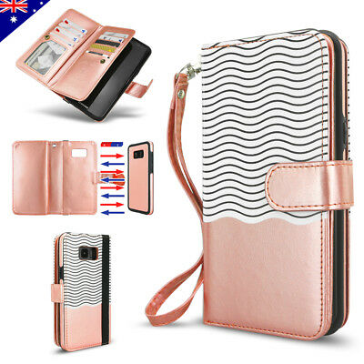 Samsung Galaxy S10 S9 S8 Plus Note 9 Leather Flip Wallet Case Magnetic Cover
