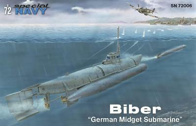 SPECIAL NAVY MPM SN72006 German Midget Submarine Biber in 1:72