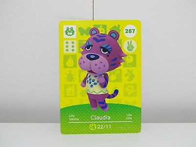 Amiibo Animal Crossing Card Claudia Lilly no. 287 Top
